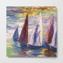 Wind on Sails by Lena Owens/OLena Art Metal Print