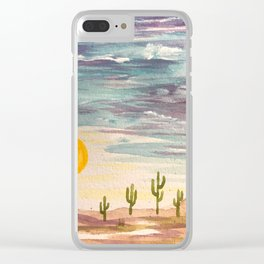 Painted Desert 2 Clear iPhone Case