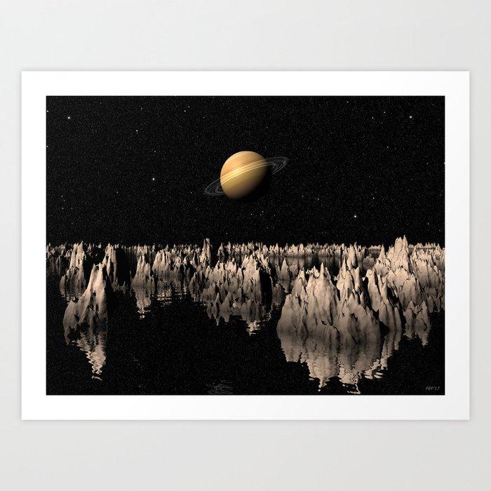 Planet Saturn Art Print