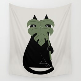 Cat and Plant 14: Monster-a Wall Tapestry