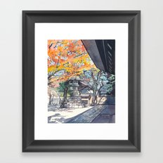 A shrine in autumn Framed Art Print