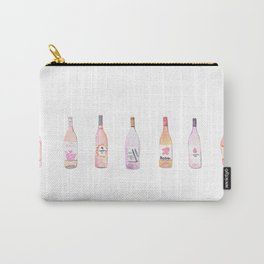 Watercolor Rosé Wine Bottles Carry-All Pouch