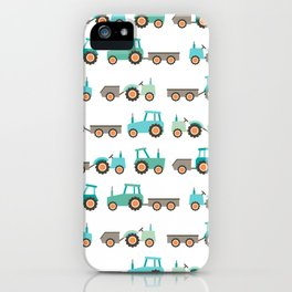 Tractors on white iPhone Case