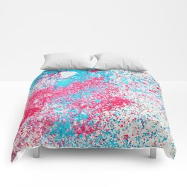 Vitrail blue red Comforters