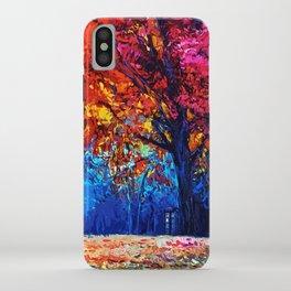 Tardis Tree Art Blossom iPhone Case