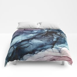 Blush and Darkness Abstract Paintings Comforters