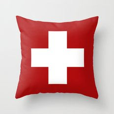 Swiss Cross Throw Pillow