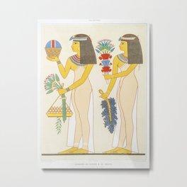 Ancient Egyptian Civilization Diagrams Vintage Encyclopedia Diagrams Hieroglyphics Ancient Ruins Metal Print