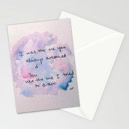 watercolor john mayer lyric Stationery Cards