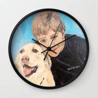best friends Wall Clocks featuring Best Friends by gretzky