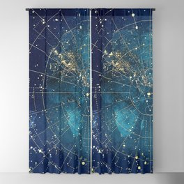 Star Map :: City Lights Blackout Curtain
