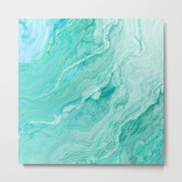 Fluid marble water Metal Print