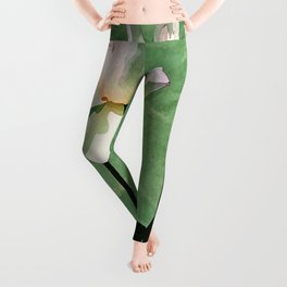 LOTUS WITH PODS green Leggings