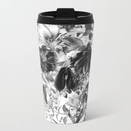 New Skull Light B&W Metal Travel Mug