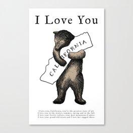 i love you california Leinwanddruck