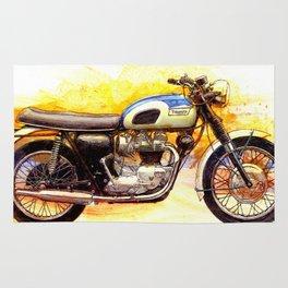 1970 Triumph Bonneville Painting Rug
