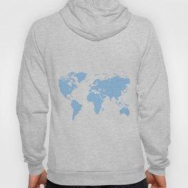 World Map - Blue Hoody