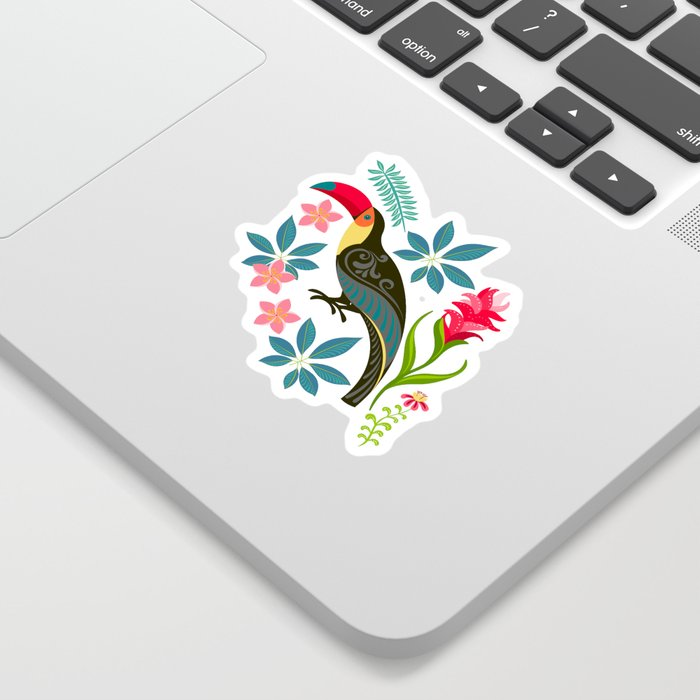 Floral Toucan Sticker
