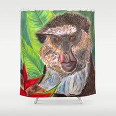 Mona Monkey Shower Curtain
