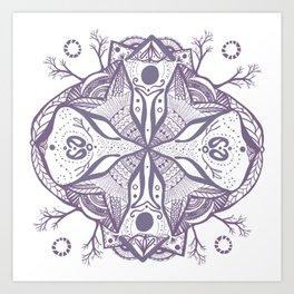 Mandala Drawing Art Print