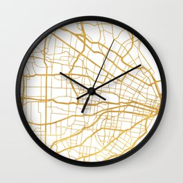 ST. LOUIS MISSOURI CITY STREET MAP ART Wall Clock