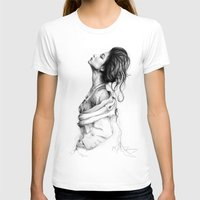 lady T-shirts featuring Pretty Lady Illustration by Olechka