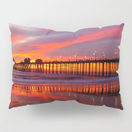 Sunset At The Pier * Huntington Beach, California Pillow Sham
