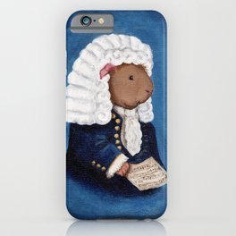 Johann Sebastian Bach the Guinea Pig iPhone Case
