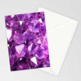 Purple Amethyst Stationery Cards
