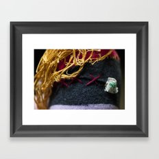 bret michaels.  if he were a pirate.  and a sperm.  and made out of an old sock Framed Art Print