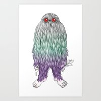 bigfoot Art Prints featuring BigFoot by Paz Art