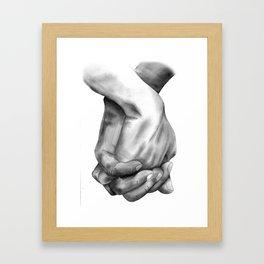 Hands of Love Framed Art Print