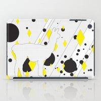 llama iPad Cases featuring Llama by Dario Herlein