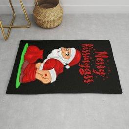 Merry Kissmyass - Cute Santa Claus Shows Skin Rug