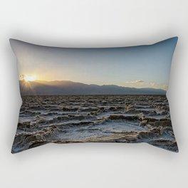 Death Valley Sunset California National Park Landscape Rectangular Pillow
