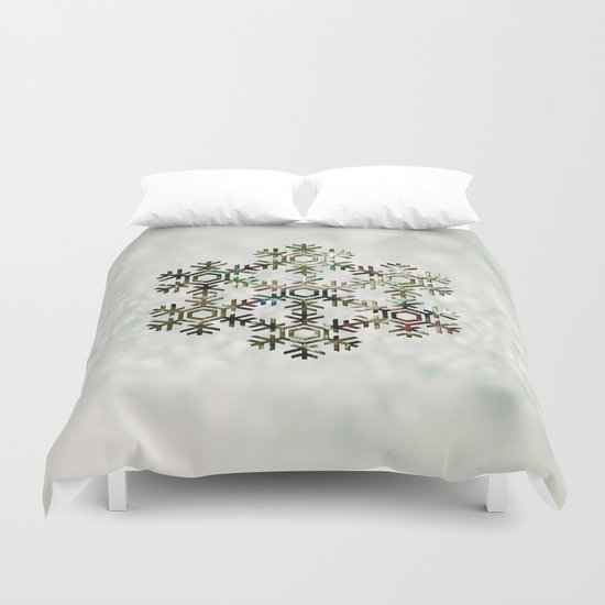 The Flower of Ice Duvet Cover