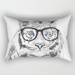 Tiger with glasses Rectangular Pillow