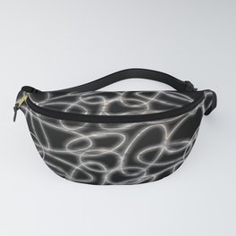 Glowing White Ovals Fanny Pack