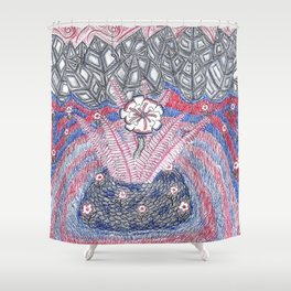 Abstract Flower Field Shower Curtain
