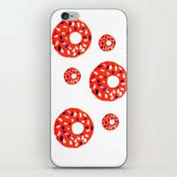 doughnut iPhone & iPod Skins featuring Doughnut by Myles Hunt