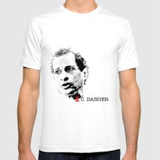 Vote Carlos Danger SMALL White Mens Fitted Tee