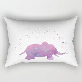 Love is in the air - Elephant animal watercolor illustration Rectangular Pillow