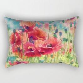 Poppy Parade Rectangular Pillow