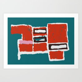 Bue and Red Art Print