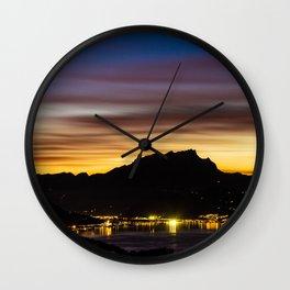 The Glow of Pilatus Wall Clock