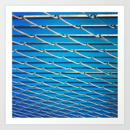Blue Fence Art Print