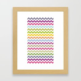 art colour lines triangle look rest eyes color new artist fun mixed pattern sweet cover case skin ip Framed Art Print