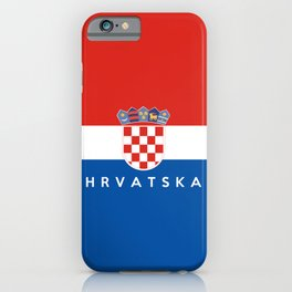 croatia country flag Hrvatska name text iPhone Case