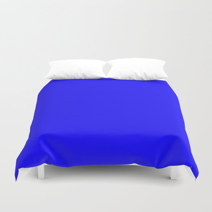 Curves In Yellow Royal Blue Duvet Cover