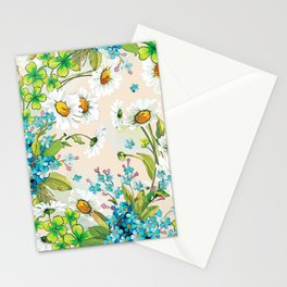 Adorable white sunflower texture Stationery Cards